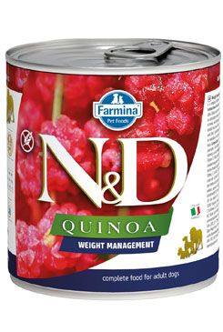 N&D DOG QUINOA Ad. Weight Mngmnt Lamb & Brocolli 285g
