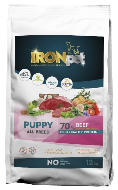 IRONpet BEEF Puppy All Breed 12kg-14969