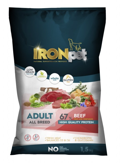 IRONpet BEEF Adult All Breed 1,5kg-15266