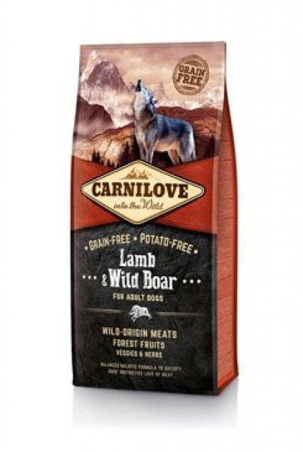 Carnilove Dog Lamb & Wild Boar for Adult 12kg