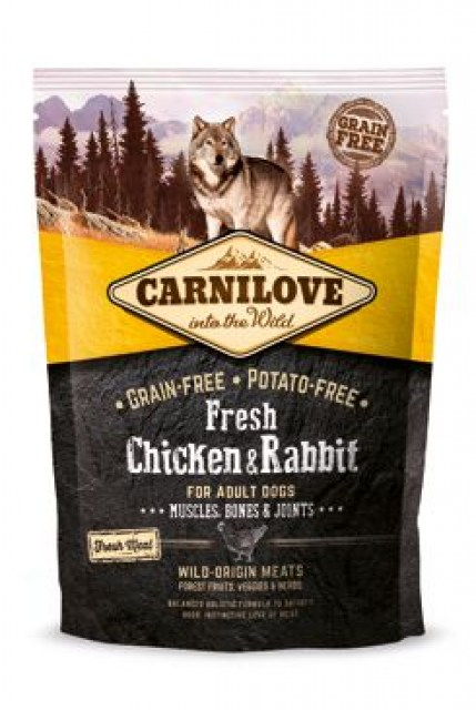 Carnilove Dog Fresh Chicken & Rabbit for Adult 1.5kg