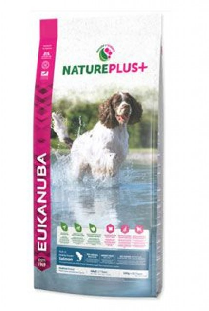 Eukanuba Dog Nature Plus+ Adult Med. froz Salm 2,3kg