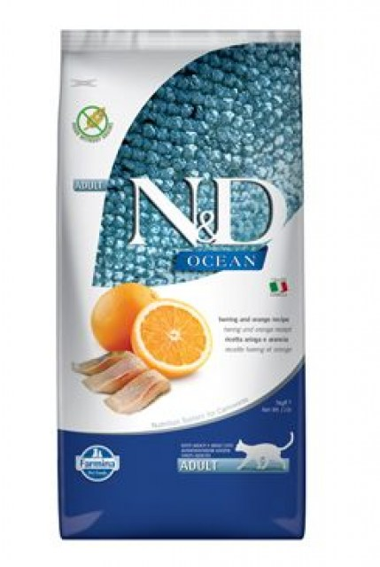 N&D OCEAN CAT Adult Herring & Orange 5kg