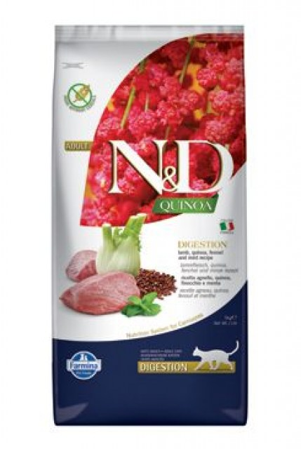 N&D Quinoa CAT Digestion Lamb & Fennel 5kg