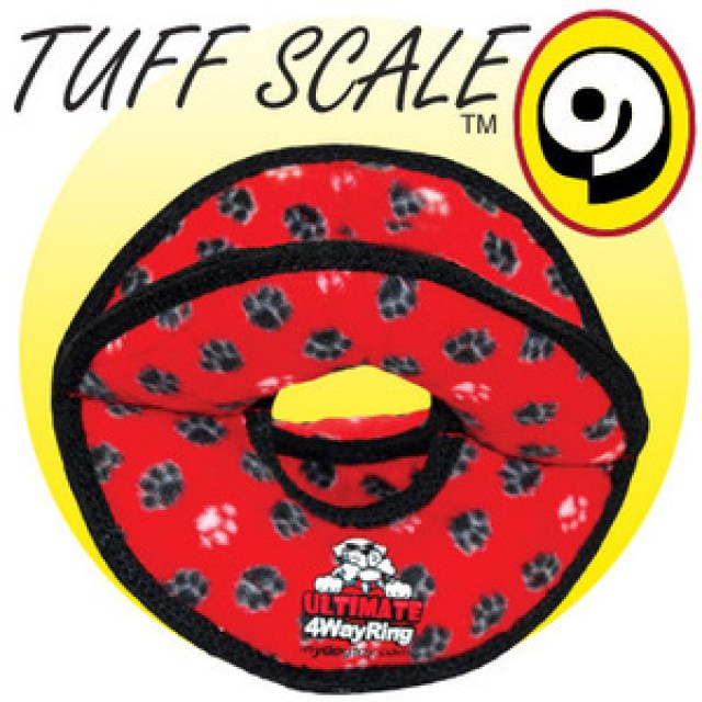 TUFFY Ultimates 4 Way Ring Red Paws