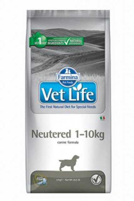 Vet Life Natural DOG Neutered 1-10kg 10kg